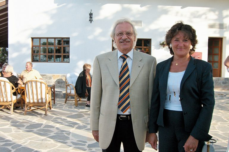 Celebrating 45 stays in 25 years in Creta Maris: Meet Mr & Mrs Ost!
