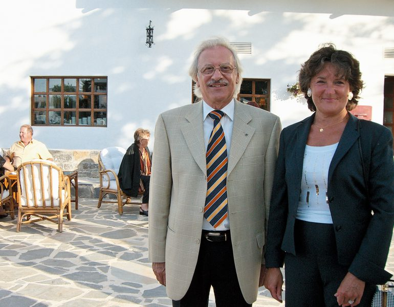 Celebrating 45 stays in 25 years in Creta Maris: Meet Mr & Mrs Ost!