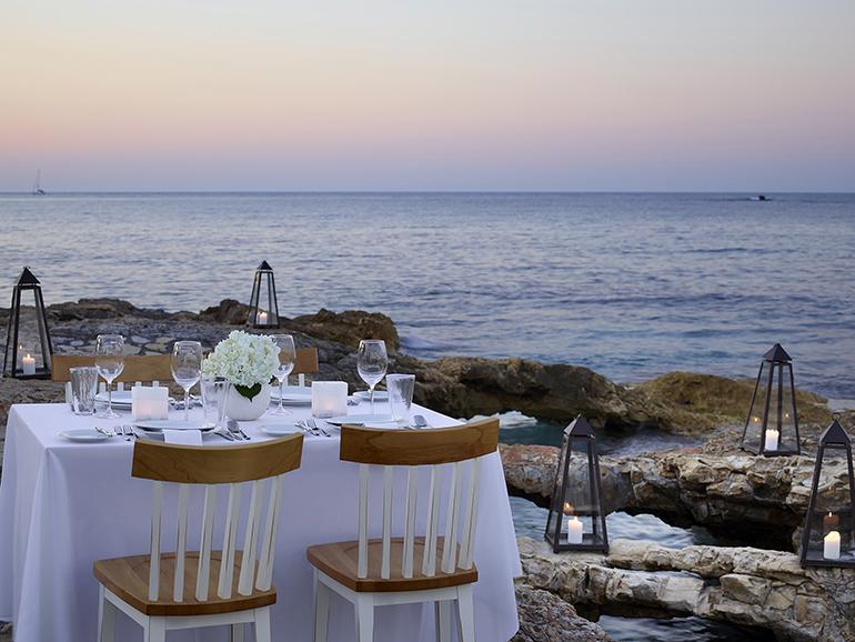 Candle light dinner experience at Creta Maris